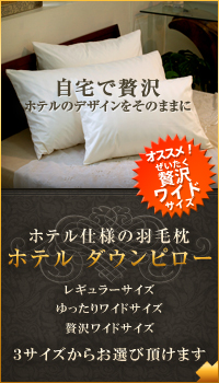 ホテル仕様の羽毛枕 ホテルダウンピロー