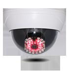 乾電池式赤外線照射機能付<br>ダミードームカメラ