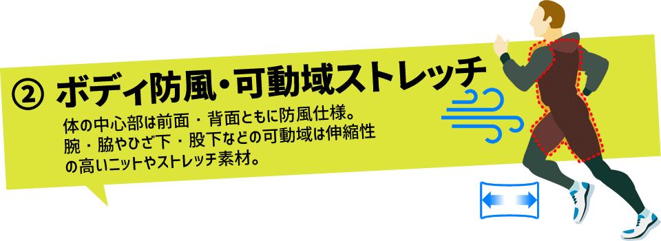 ボディ防風・可動域ストレッチ