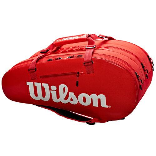 ウィルソン テニス ラケットバッグ SUPER TOUR 3 COMP レッド 15PACK (ラケット15本収納可能) (WRZ840815)