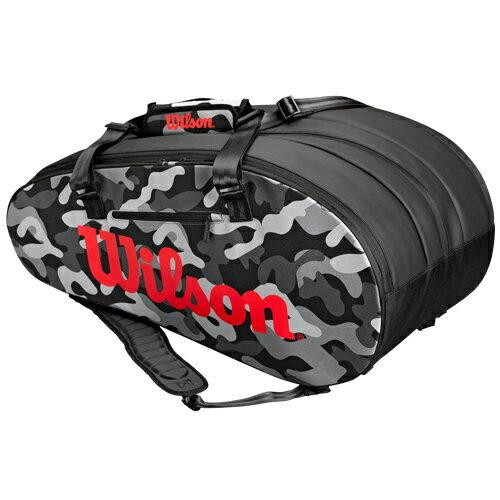 ウィルソン テニス ラケットバッグ SUPER TOUR CAMO 15PACK (ラケット15本収納可能) (WRZ831814)