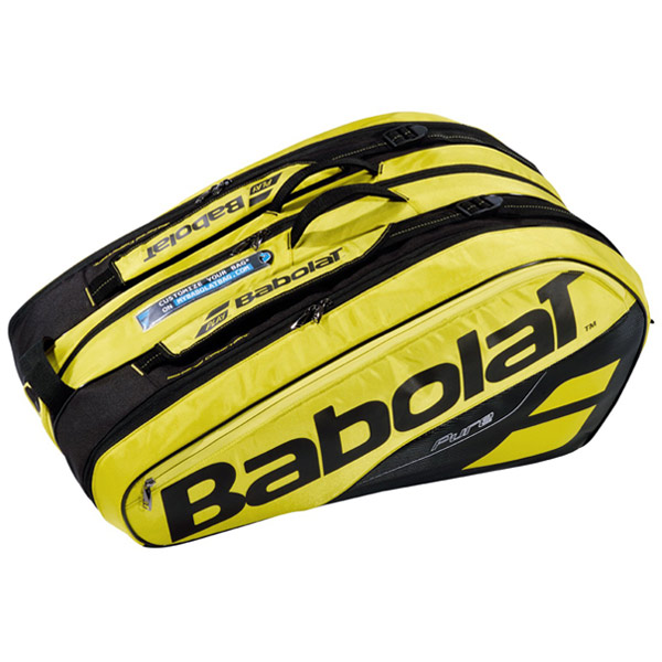 バボラ テニス ラケットバッグ ピュアライン ラケットホルダー ×12 (ラケット12本収納可能) イエロー×ブラック (BB751180)