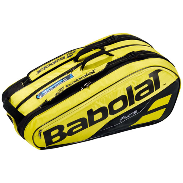 バボラ テニス ラケットバッグ ピュアライン ラケットホルダー ×9 (ラケット9本収納可能) イエロー×ブラック (BB751181)
