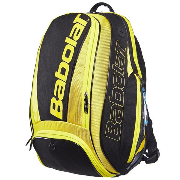 バボラ テニス ラケットバッグ ピュアライン バックパック (ラケット1本収納可能) イエロー×ブラック (BB753074)