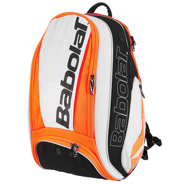 バボラ テニス ラケットバッグ ピュアライン バックパック (ラケット1本収納可能) ホワイト×レッド (BB753070)