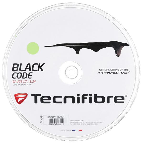 テクニフィバー ガット ブラックコード ライム (200mロールガット)