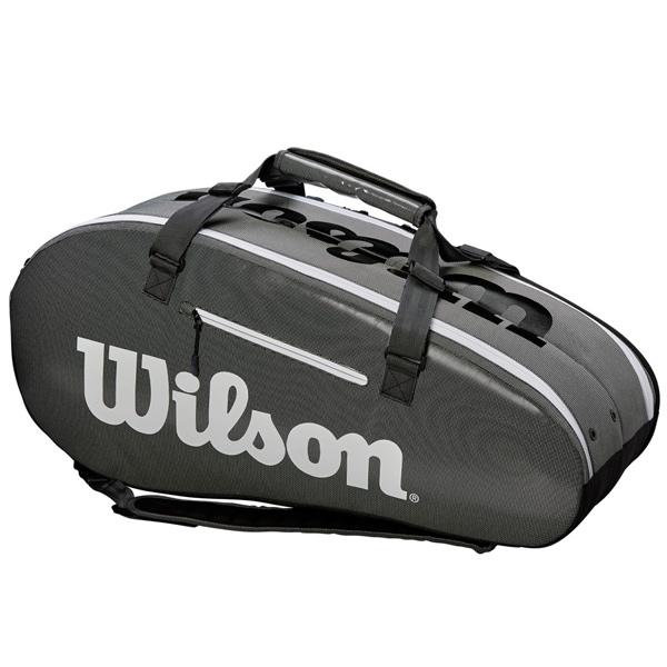 ウィルソン テニス ラケットバッグ SUPER TOUR 2 COMP LARGE BLACK GREY (ラケット9本収納可能) (WRZ843909)
