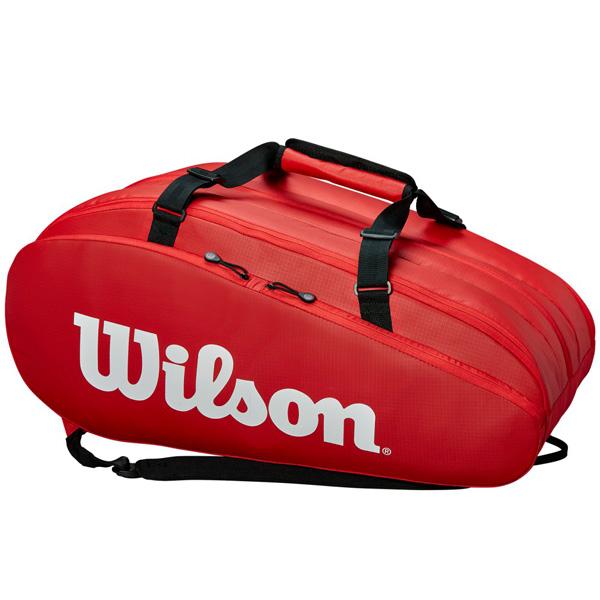 ウィルソン テニス ラケットバッグ TOUR 3 COMP RED (ラケット15本収納可能) (WRZ847915)