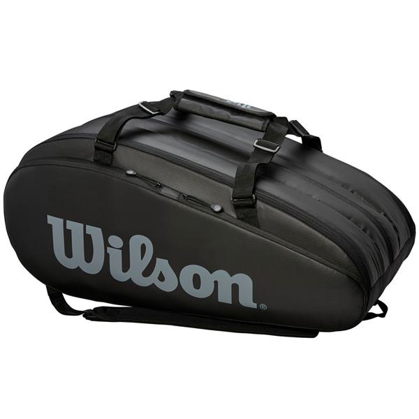 ウィルソン テニス ラケットバッグ TOUR 3 COMP BLACK (ラケット15本収納可能) (WRZ849315)