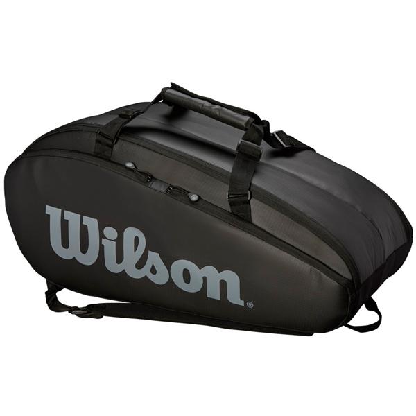 ウィルソン テニス ラケットバッグ TOUR 2 COMP LARGE BLACK (ラケット9本収納可能) (WRZ849309)