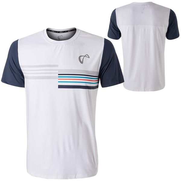 【SALE】アスレチックDNA メンズ テニス ウェア メッシュバック クルー Stripes