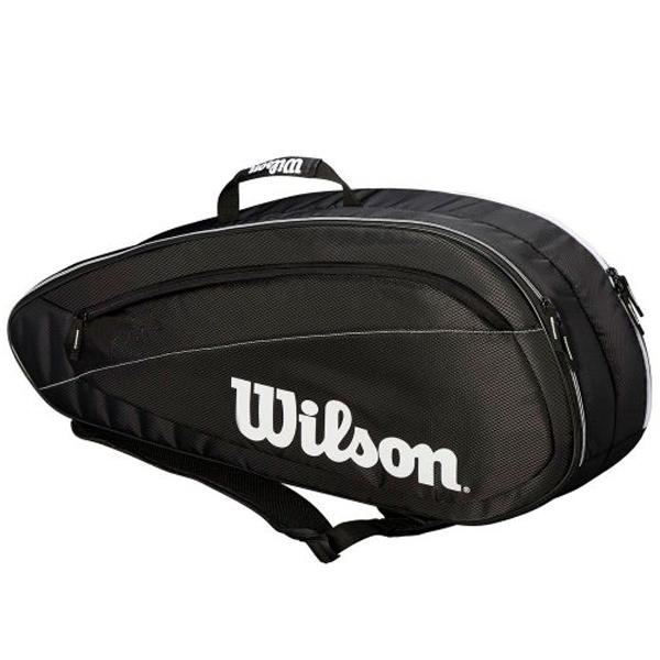 ウィルソン テニス ラケットバッグ FED TEAM 6 PACK (ラケット6本収納可能) (WRZ834806)