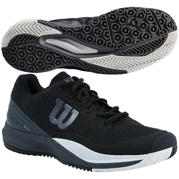 ウィルソン メンズ テニスシューズ RUSH PRO 3.0 OC (オムニコート用) ブラック×エボニー×ホワイト (WRS325650)
