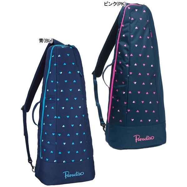 パラディーゾ テニス ラケットバッグ ハートプリントシリーズ (ラケット2本収納可能) (TRA910)