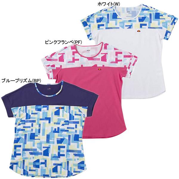 【SALE】エレッセ レディース テニスウェア ショートスリーブ ツアー プラス クルー (EW08121)