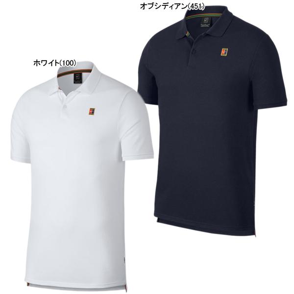 ナイキ メンズ テニスウェア コート ヘリテージ S/S ポロ (934657)