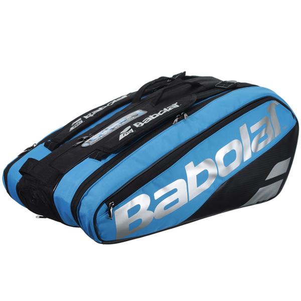 バボラ テニス ラケットバッグ ラケットホルダー ×9 ピュアドライブ VS (ラケット9本収納可能) ブラック×ブルー (BB751200)