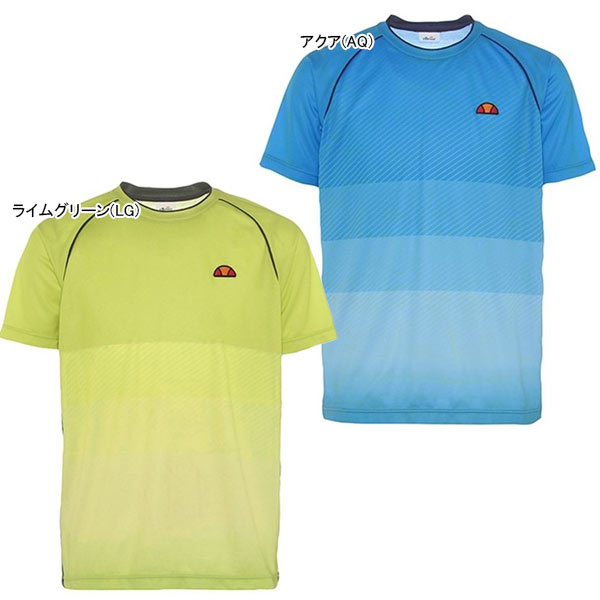 【SALE】エレッセ メンズ テニス ウェア クルーネックシャツ (ETS05002)