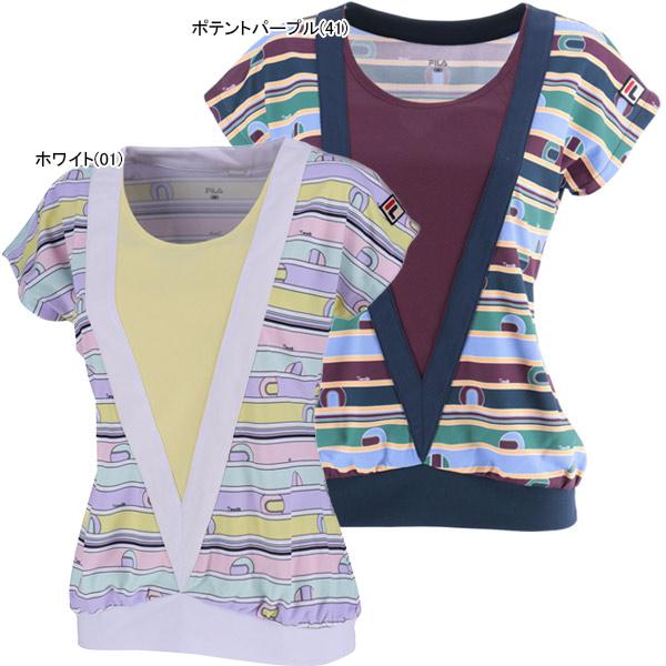 【SALE】フィラ レディース テニスウェア ゲームシャツ (VL1848)
