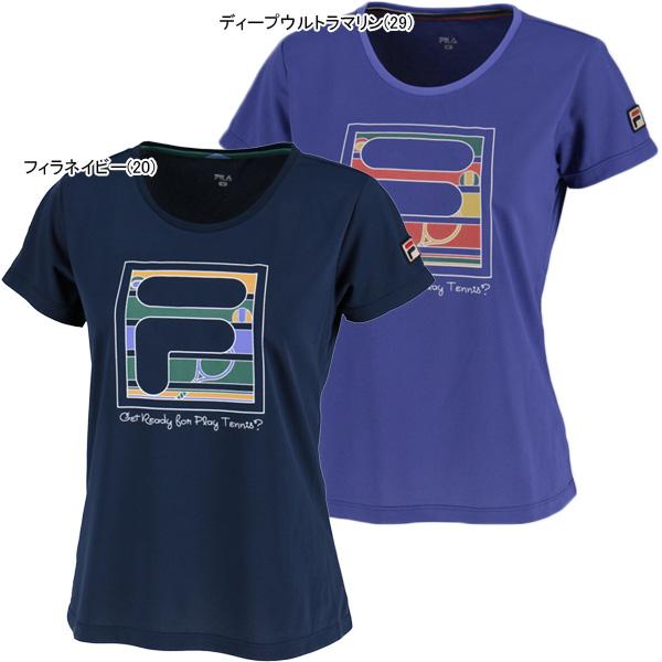 【SALE】フィラ レディース テニスウェア グラフィック Tシャツ (VL1851)