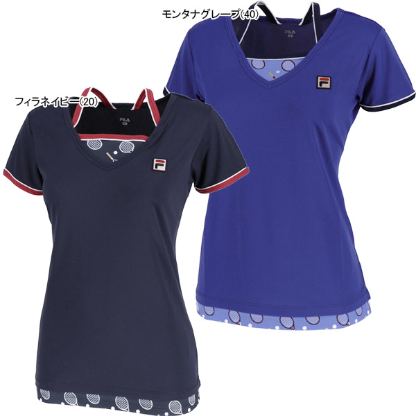 【SALE】フィラ レディース テニスウェア ゲームシャツ (VL1858)
