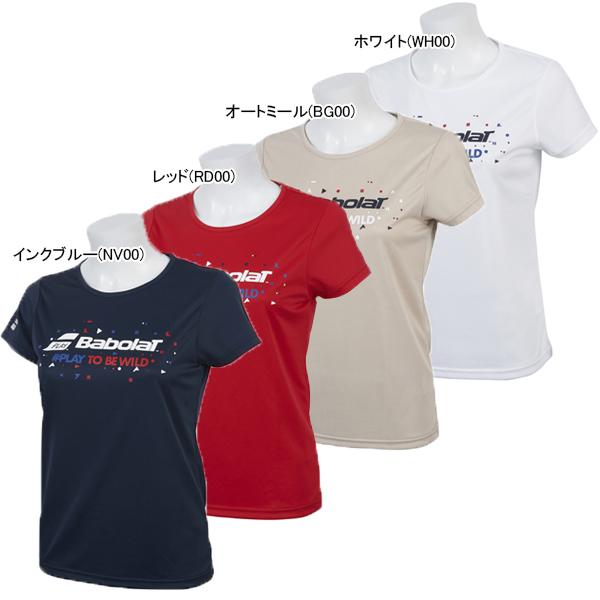 バボラ レディース テニス ウェア ショートスリーブシャツ (BTWNJA35)