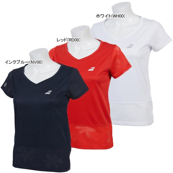 バボラ レディース テニス ウェア ショートスリーブシャツ (BTWNJA08)