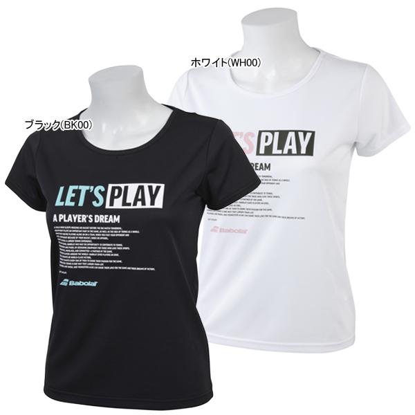 バボラ レディース テニス ウェア ショートスリーブシャツ (BTWNJA34)