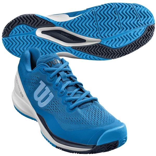 ウィルソン メンズ テニスシューズ RUSH PRO 3.0 AC (オールコート用) インペリアルブルー×ホワイト×ブリリアントブルー (WRS324720U)
