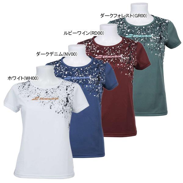 バボラ レディース テニスウェア ショートスリーブ Tシャツ (BTWOJA32)