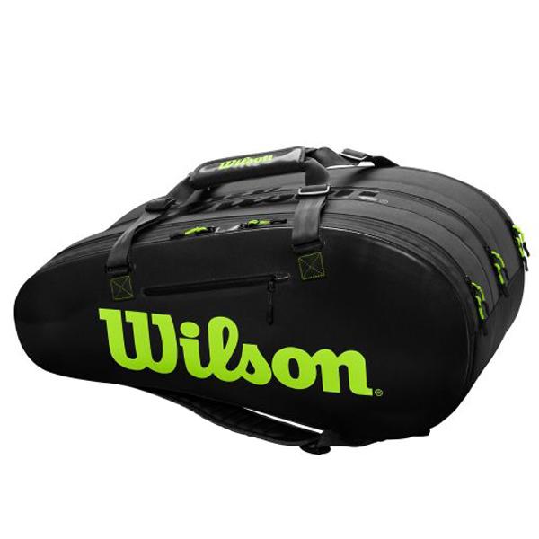 【※予約※8月23日発売予定】ウィルソン テニス ラケットバッグ SUPER TOUR 3COMP (ラケット15本収納可能) (WR8004101001)