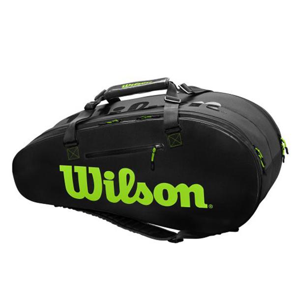 【※予約※8月23日発売予定】ウィルソン テニス ラケットバッグ SUPER TOUR 2COMP LARGE (ラケット9本収納可能) (WR8004201001)