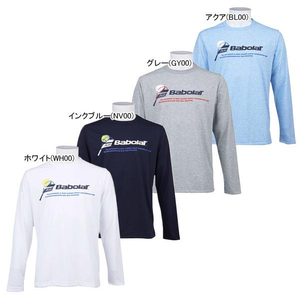バボラ ユニセックス テニスウェア ロングスリーブ Tシャツ (BTUOJB30)