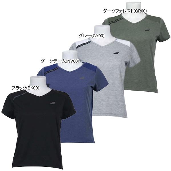 バボラ レディース テニスウェア ショートスリーブ Tシャツ (BTWOJA02)