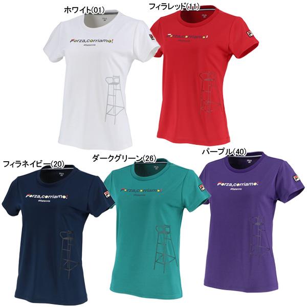 フィラ レディース テニスウェア グラフィックTシャツ (VL2045)