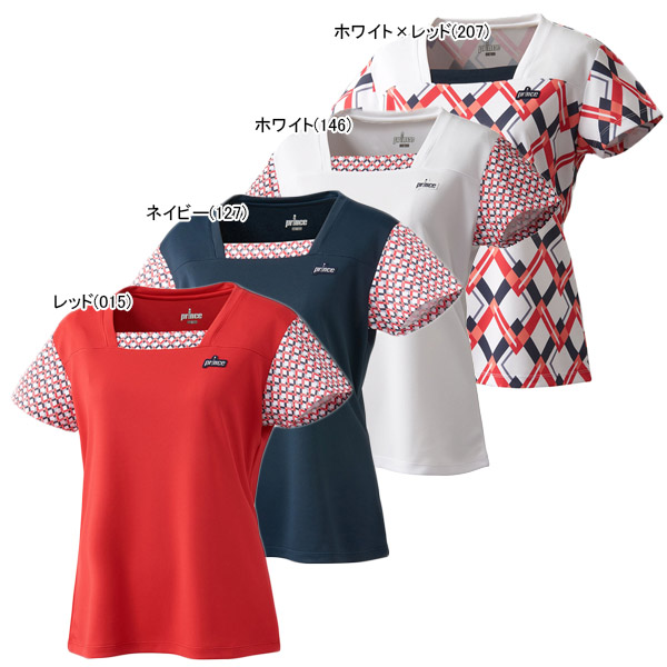 プリンス レディース テニスウェア ゲームシャツ (WL9073)