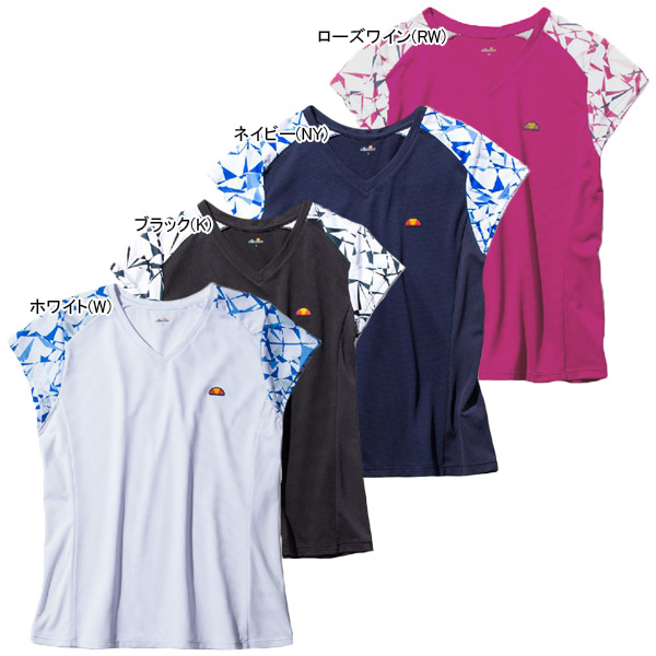 エレッセ レディース テニスウェア ツアープラス Vネックシャツ (EW09309)