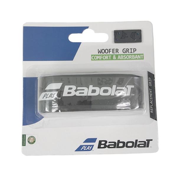 バボラ テニス リプレイスメント グリップテープ ウーファー グリップ ブラック×ブルー (BA670060・146)