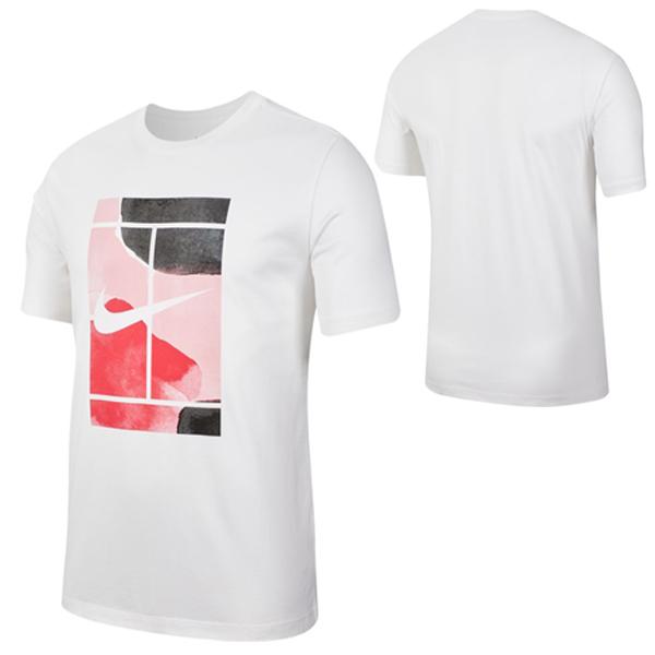 ナイキ メンズ テニス ウェア コート シーズナル コート Tシャツ (CQ2423・100)