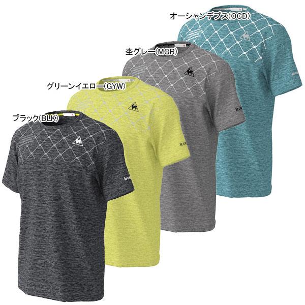 ルコック メンズ テニス ウェア プリントシャツ (QTMPJA05)