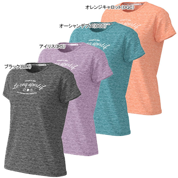 ルコック レディース テニス ウェア プリントシャツ (QTWPJA06)
