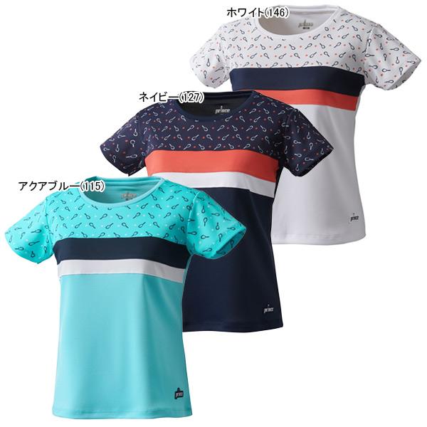 プリンス ジュニア ガールズ テニス ウェア ゲームシャツ (JS0002)