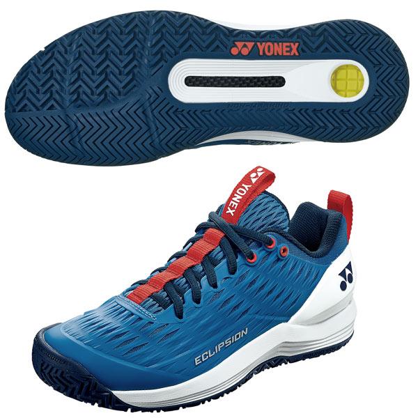 ヨネックス メンズ テニス シューズ パワークッション エクリプション3 AC (オールコート用) ブルー×ホワイト (SHTE3MAC・778)