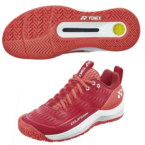 ヨネックス レディース テニス シューズ パワークッション エクリプション3 AC (オールコート用) レッド×ホワイト (SHTE3LAC・713)