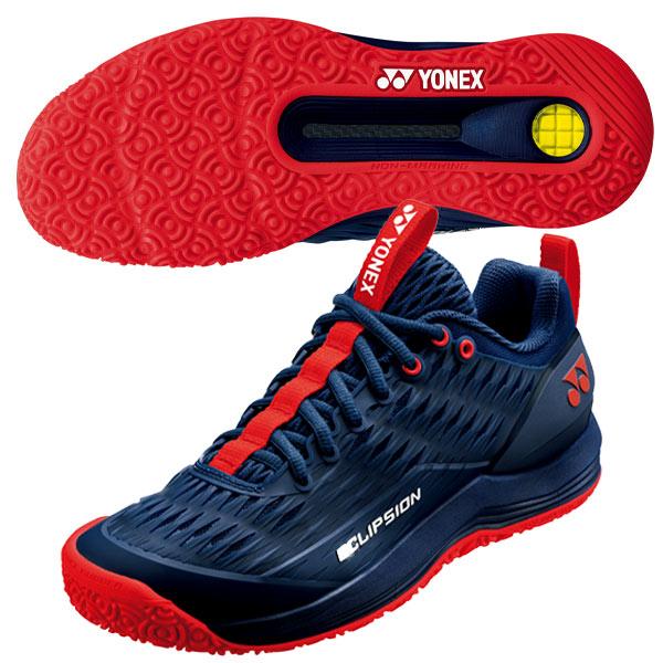 ヨネックス メンズ テニス シューズ パワークッション エクリプション3 GC (オムニ・クレーコート用) ネイビー×レッド (SHTE3MGC・097)
