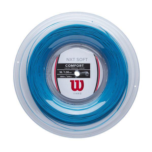 ウィルソン ガット NXT SOFT 16/1.30mm ブルー (200mロールガット) (WR830520216)