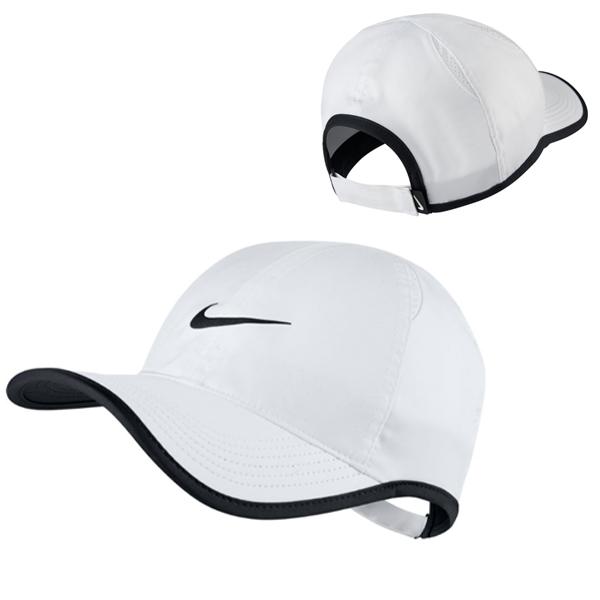 ナイキ ユニセックス テニス キャップ コート エアロビル フェザーライト ホワイト (679421・010)
