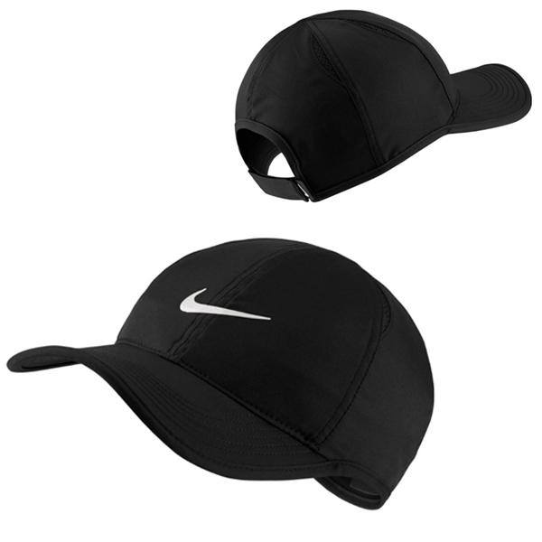 ナイキ ユニセックス テニス キャップ コート エアロビル フェザーライト ブラック (679421・100)