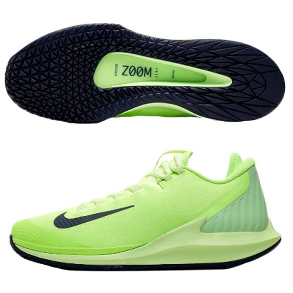 ナイキ メンズ テニス シューズ コート エアズーム ゼロ HC (ハードコート・オールコート用) ゴーストグリーン×ベアリーボルト×エイフィッドグリーン×ブラッケンドブルー (AA8018・302)