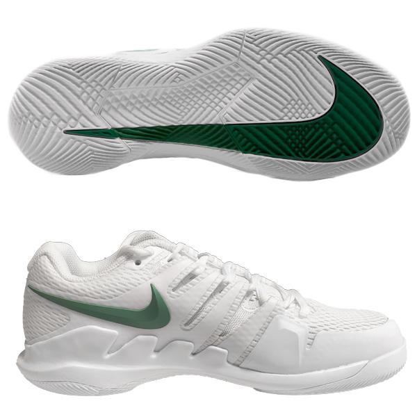 ナイキ レディース テニス シューズ コート エア ズーム ヴェイパーX HC (ハードコート・オールコート用) ホワイト×クローバー×ゴージグリーン×ホワイト (AA8027・111)